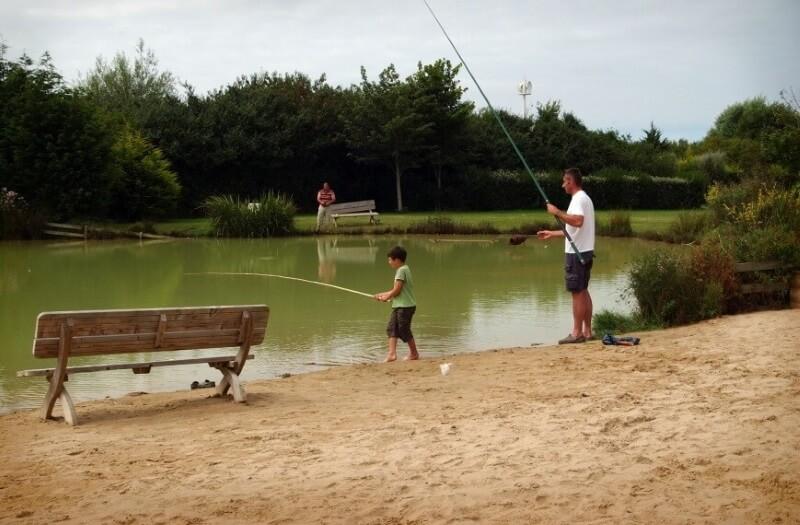 Pêche en étang à Port en Bessin