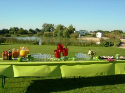 Vin d'honneur au camping mariage normandie