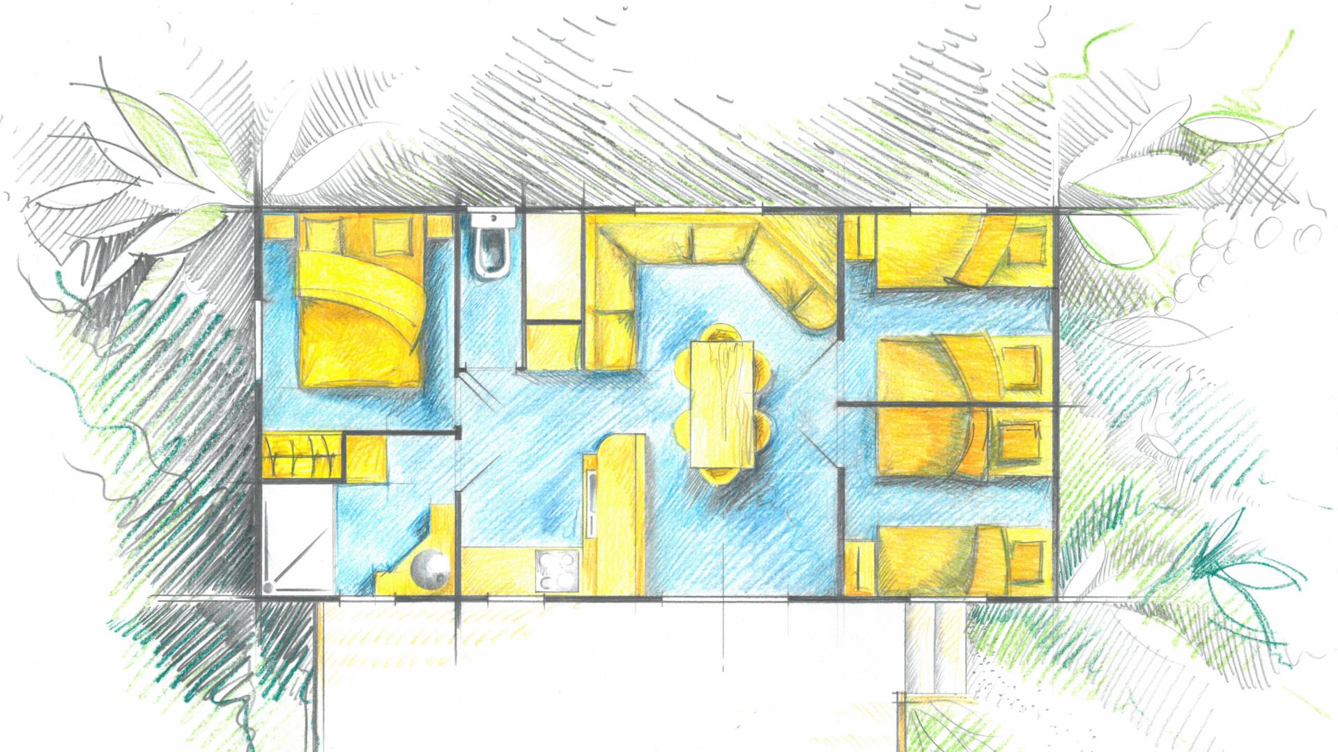 Plan du cottage Family mobile-home famille