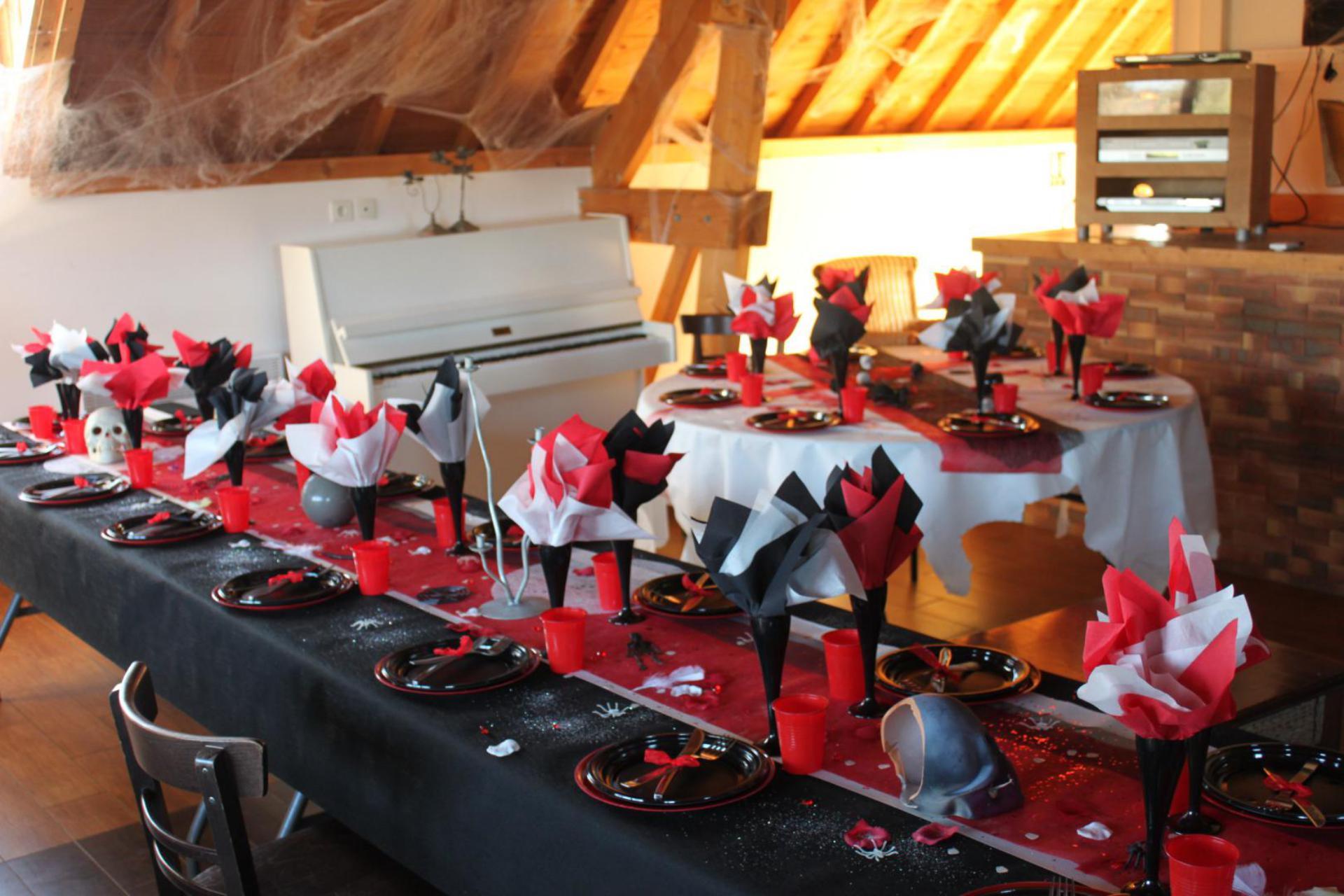 dressage table pour Halloween