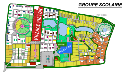 plan du camping groupe scolaire