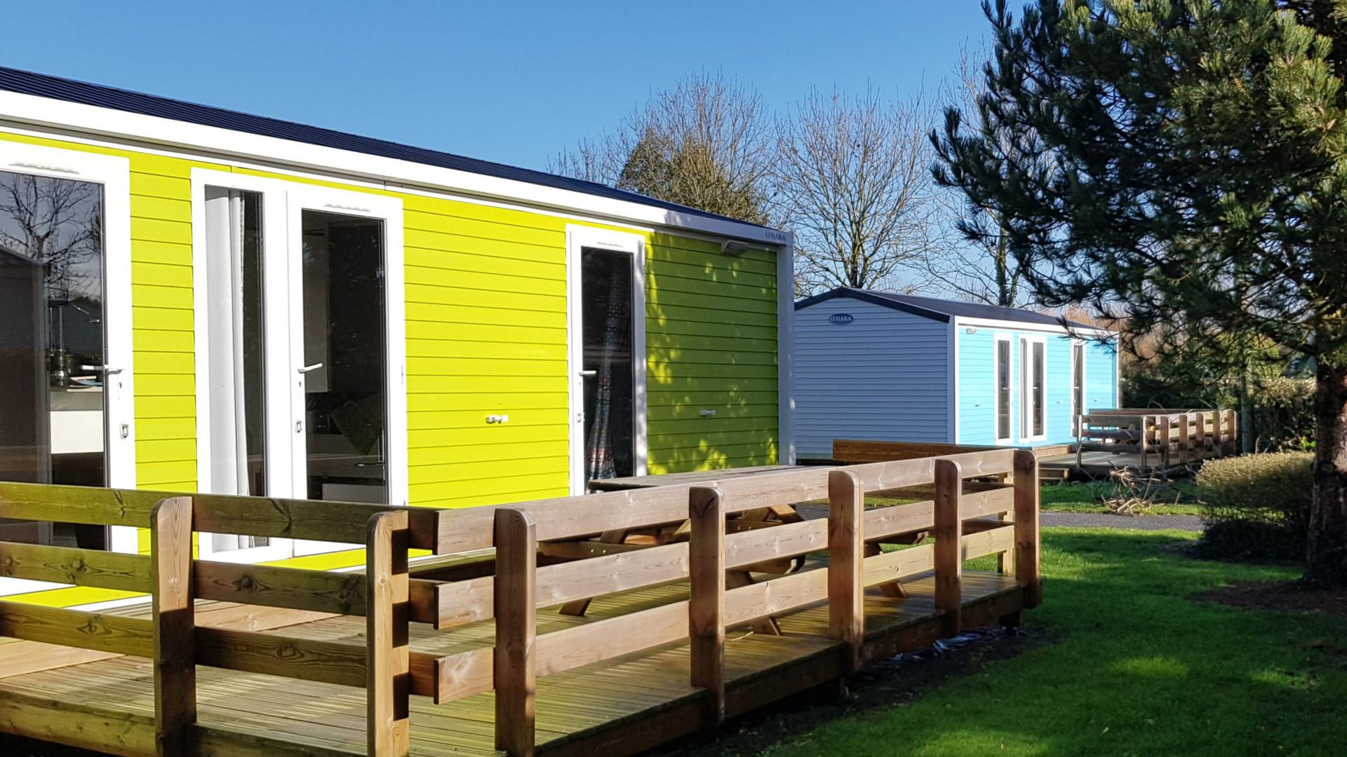 Mobile-home Gold 2 chambres 2 salles de bain vue extérieur