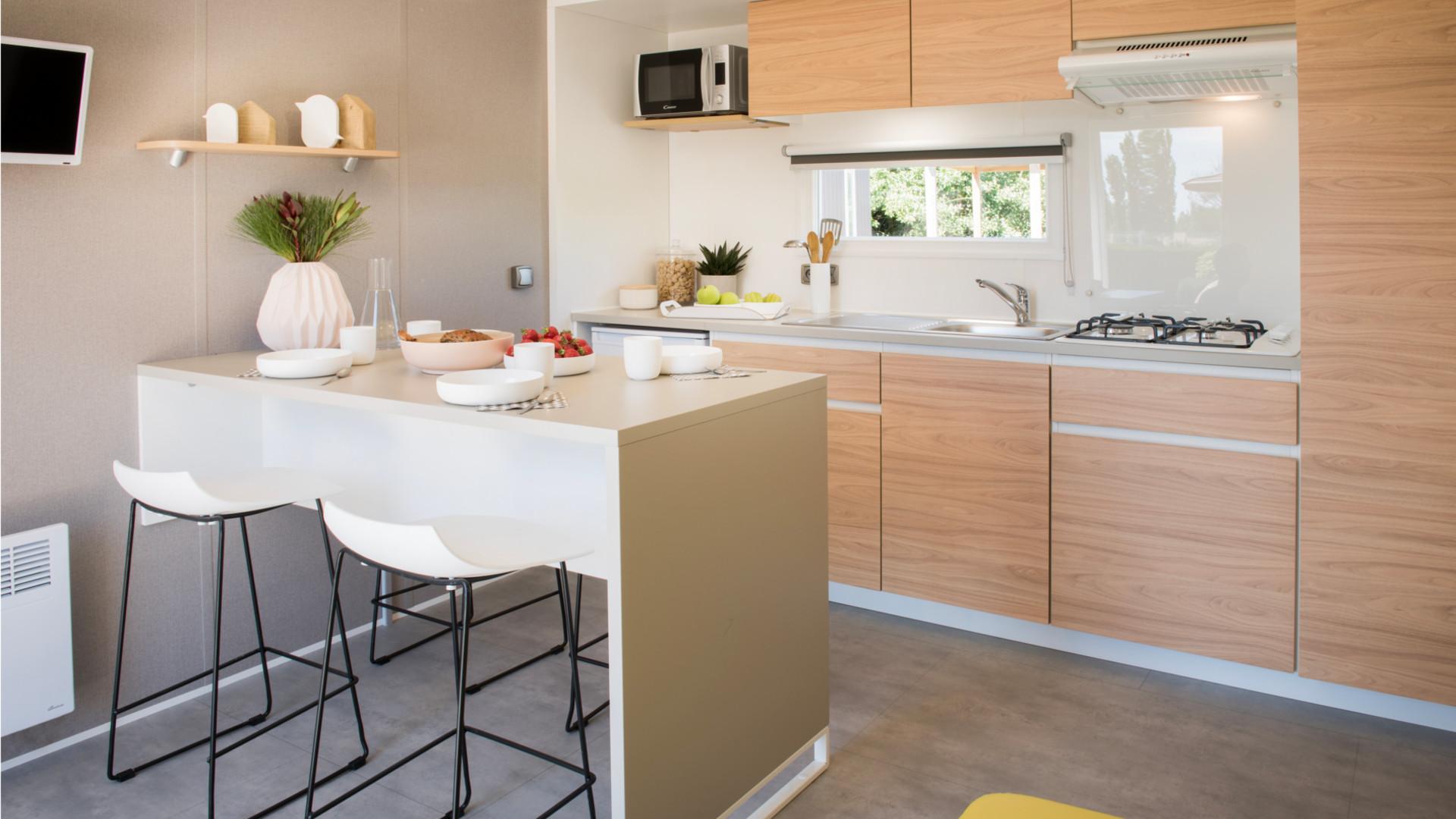 Cottage Gold vue cuisine et télévision