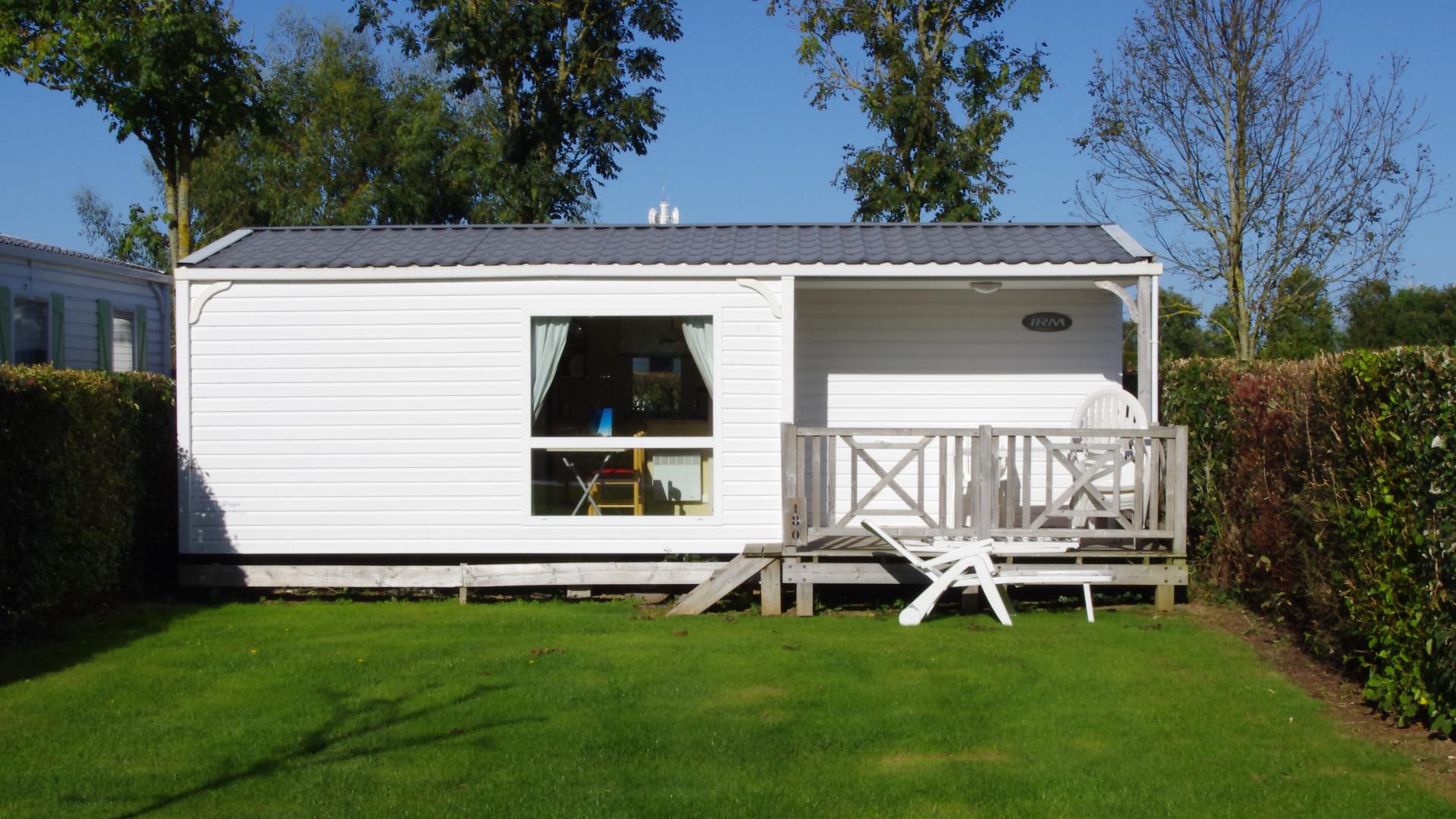 Mobile-home normandie vue extérieur