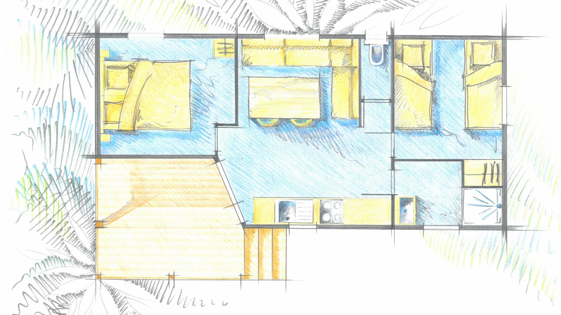 Plan du mobile-home omah