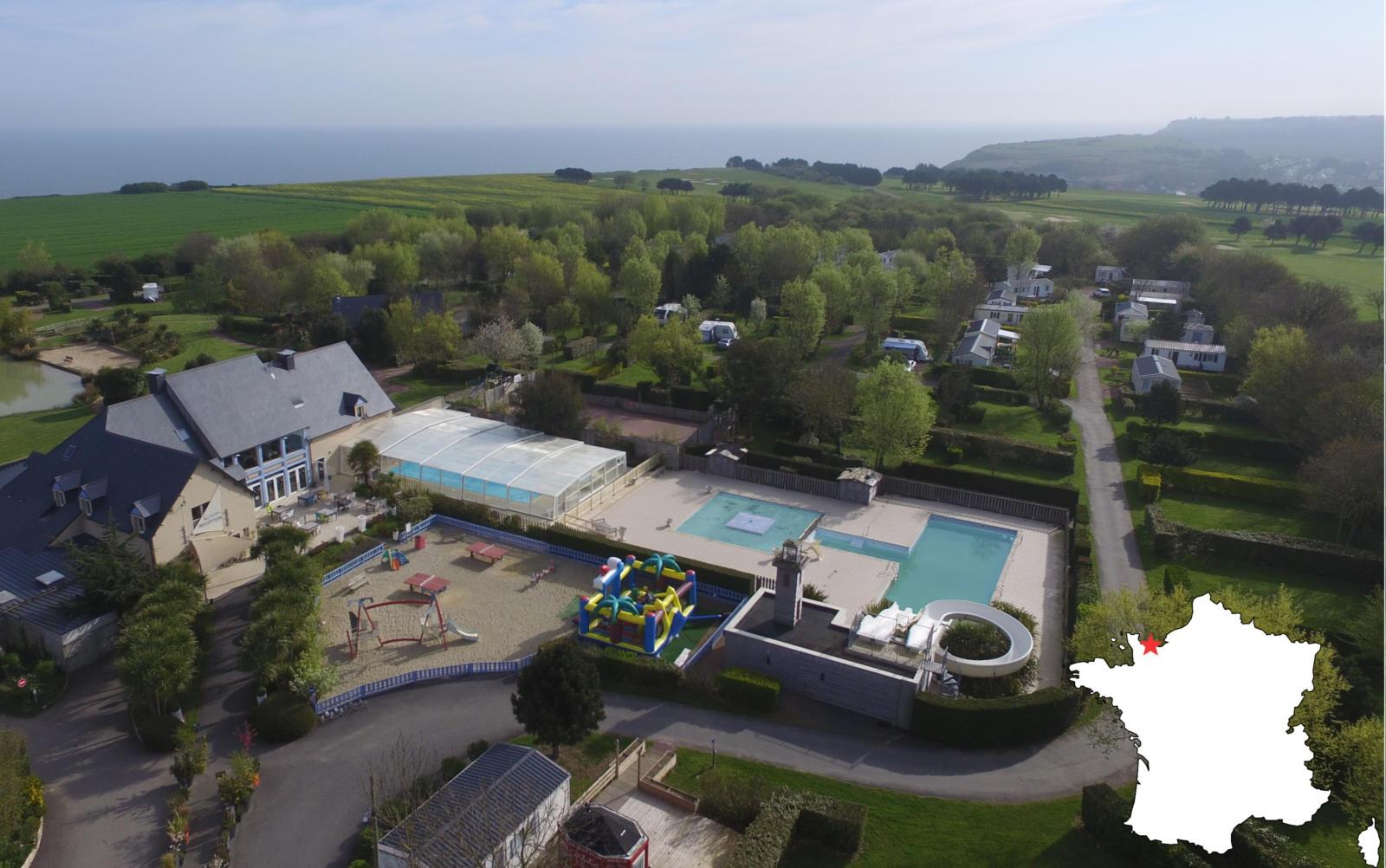 piscine vue du ciel camping port'land